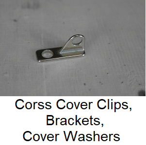Chapter Cross Cover Clips, Brackets, Cover Washers
